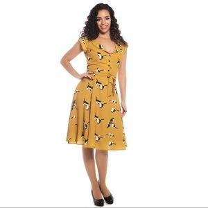 NWT Collectif Originally Offbeat Cat Dress